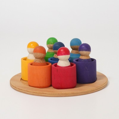 Grimm's Seven Friends in Bowls
