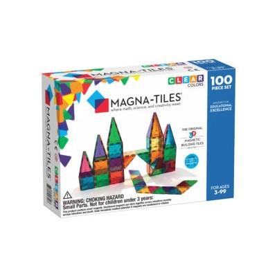 Magna-Tiles | Clear Colors 100-Piece Set