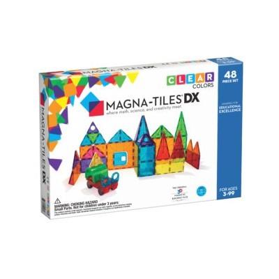 Magna-Tiles | Clear Colors 48-Piece Deluxe Set
