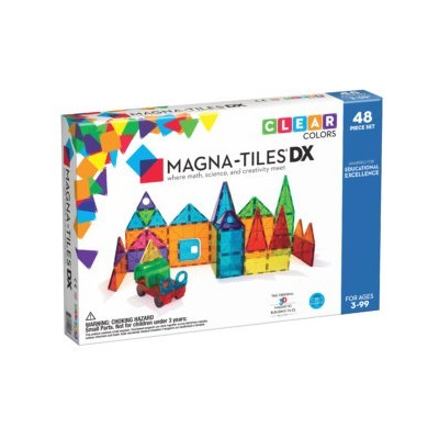 Magna-Tiles   Clear Colors 48-Piece Deluxe Set