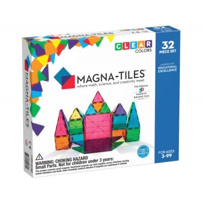 Magna-Tiles | Clear Colors 32-Piece Set