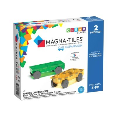 Magna-Tiles | Cars 2-piece Expansion Set