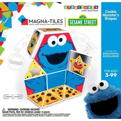 Magna-Tiles | Cookie Monster's Shapes