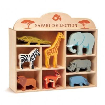 8 Safari Animals & Shelf