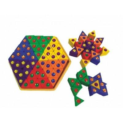 Bauspiel Colored Triangles 54 pcs