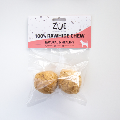 ZUE chewing ball, 4.5 cm, 2 pcs. in vinylbag