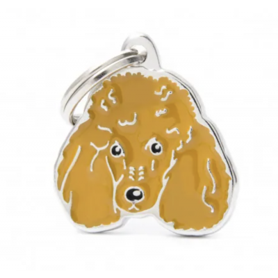New Apricot Poodle dog tag
