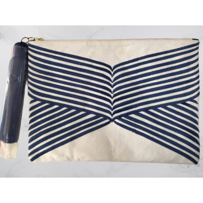 Blue Lines Clutch Bag