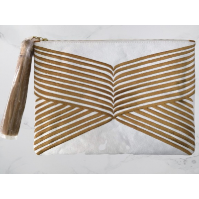 Gold Lines Clutch Bag
