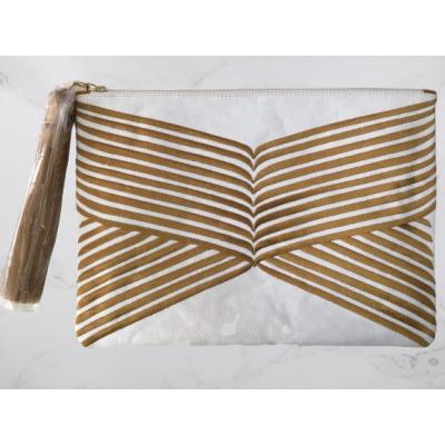 Gold Lines Clutch Bag