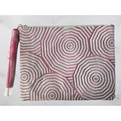 Pink Web Clutch Bag