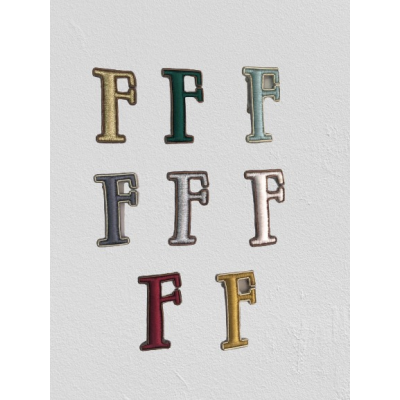 SMALL SIZE LETTER F BROOCH