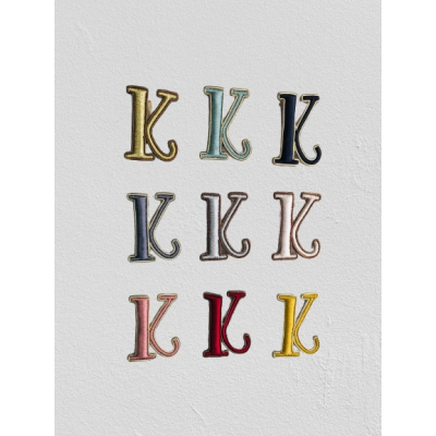 SMALL SIZE LETTER K BROOCH