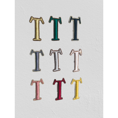 SMALL SIZE LETTER T BROOCH