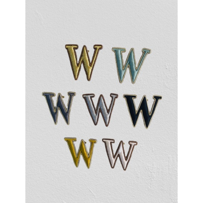 SMALL SIZE LETTER W BROOCH