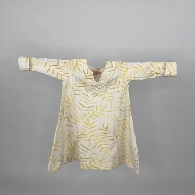 Kids A cut with Sleeves Yellow Fern