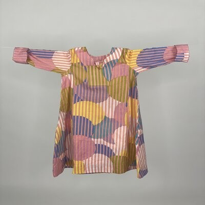 Kids A cut with Sleeves Pink Stripe Circle