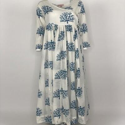 Overlap Dress Blue Coral