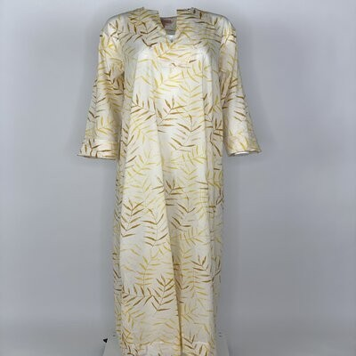 Straight Cut with sleeves Yellow Fern