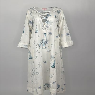 Ribbon Tie Dress Blue Lighthouse