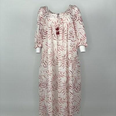 Vintage Prairie Dress Red Fern