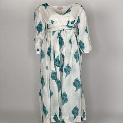 Empire Dress Aqua Shell