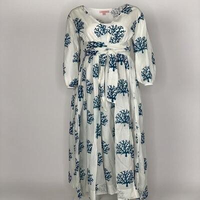 Empire Dress Blue Coral