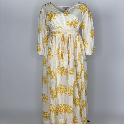 Empire Dress Yellow Coral