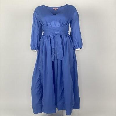 Empire Dress Blue Plain