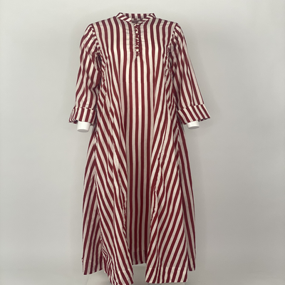 Chinese Button Red Stripes