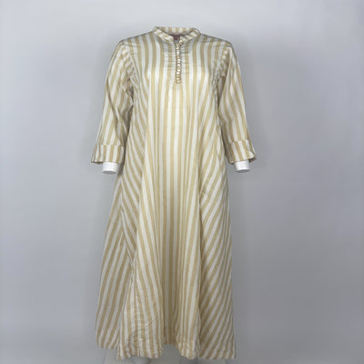 Chinese Button Beige Stripes