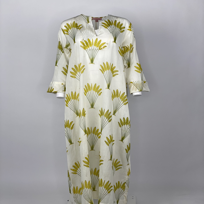 Straight Cut with sleeves Yellow Banana
