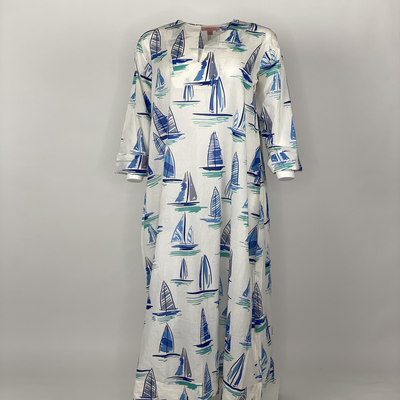 Straight Cut with sleeves Blue Boat