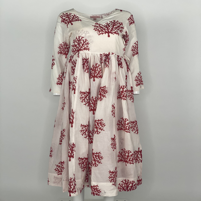Overlap Dress Red Coral
