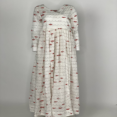 Overlap Dress Red Sailing Boats