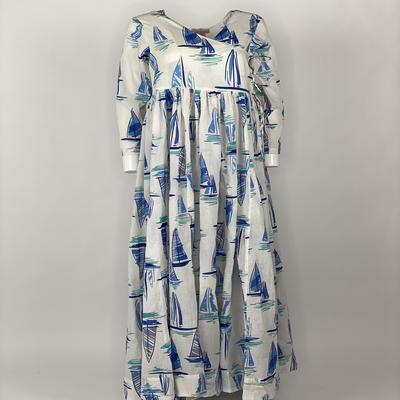 Overlap Dress Blue Boat