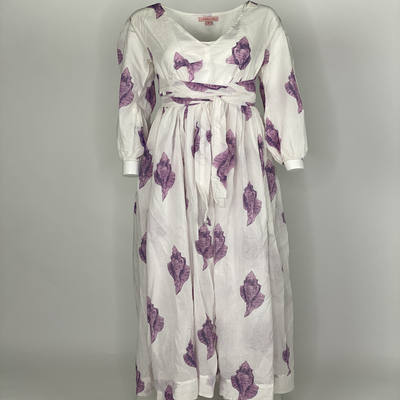 Empire Dress Purple Shell