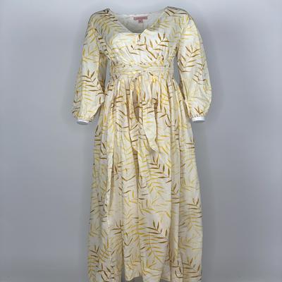 Empire Dress Yellow Fern