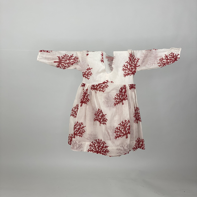 Kids Empire Dress Red Coral