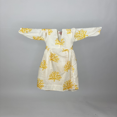 Kids Empire Dress Yellow Coral
