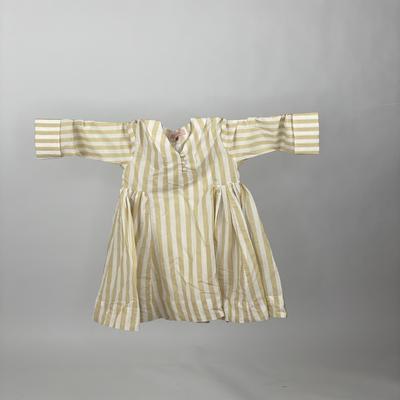 Kids Side Pleats Beige Stripe