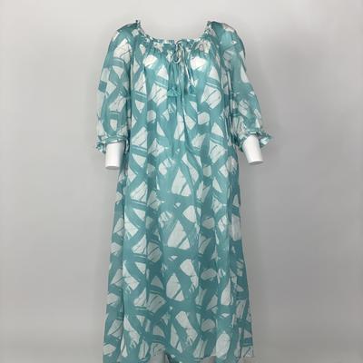 Vintage Prairie Dress Aqua Brush