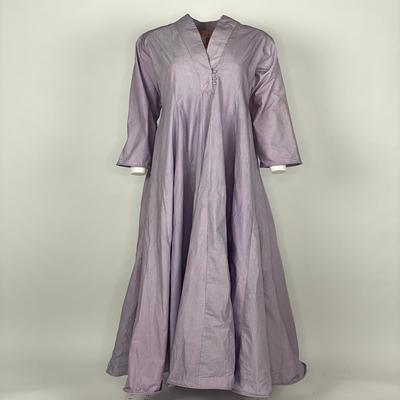 Curly Hem with Sleeves Purple Plain