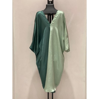 Duo Color Dress Green/Light Green
