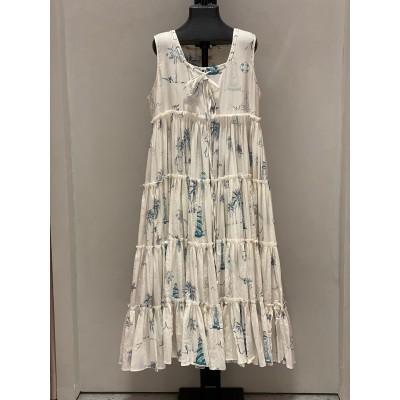 Tier Dress Blue Lighthouse Sleeveless