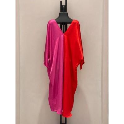 Duo Color Dress Fuchsia/Red