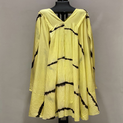 V NECK WITH SLEEVES TIE DYE YELLOW