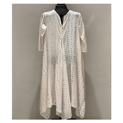 MIDDLE CUT LACE WITH SLEEVES PASTEL SHADES DOTS